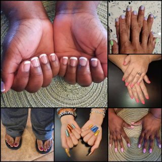 Message me or text 321-848-6789 for an appointment   #FrenchTipNails #CoffinNails #NailsByNadine #NaturalNails #AcrylicNails #Pedicure #SpringNails
