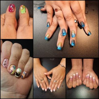 Message me or text 321-848-6789 for an appointment   #NailsByNadine #SpringNails #OmbreNails #NailStyle #NailArt