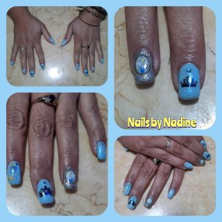 Cinderella nails full set $30 gel polish $10 nail art $10  Message me or text 321-848-6789 for an appointment