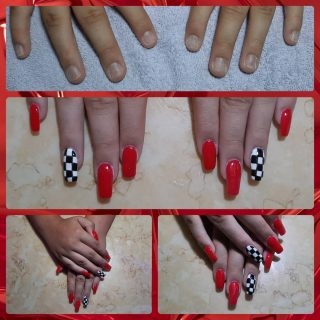 Before and after   Full set acrylics $30 Gel polish $10 and Nail art $10  Message me or text 321-848-6789 for an appointment
