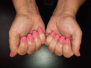 Gel polish on Natural nail   Mani/pedi $30. Message me or text 321-848-6789 for an appointment