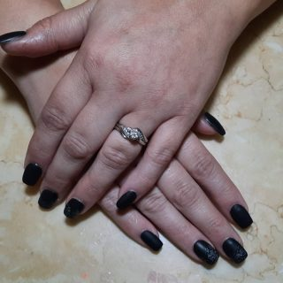 Full set with matte top coat and glitter ombre   Message me or text 321-848-6789 for an appointment