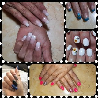 Business length or full coffin, acrylic or natural nails, shellac or gel polish.    $30 full set of acrylics, $10 gel polish, nail art $1 - $5 per nail  Message me or text 321-848-6789 for an appointment.