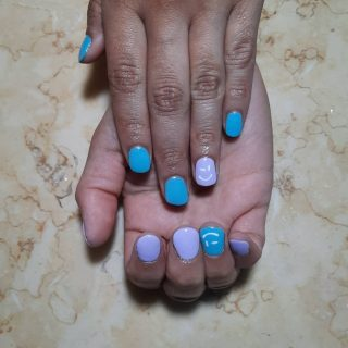 Gel manicure $22  Message me or text 321-848-6789 for an appointment