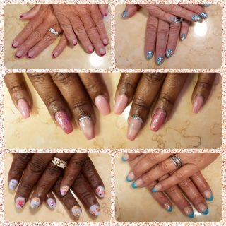 A full set $30, pedicure $22, eyebrow wax $8.  Message me or text 321-848-6789 for an appointment.   #NailsByNadine #SummerNails #NailArt #AcrylicNails #NaturalNails